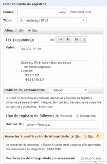 Figura 6 - Failover do link primário