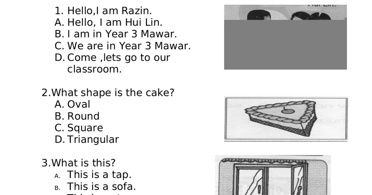 27635766 Soalan English Bi Bahasa Inggeris Tahun 3 Paper 1 Pdf Google Drive