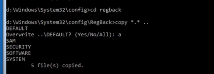 using regback to copy files