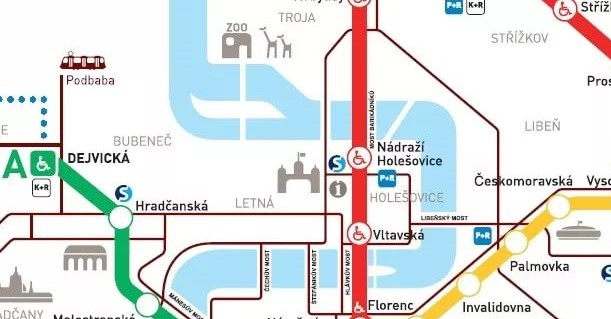 траспортная доступность Прага 7