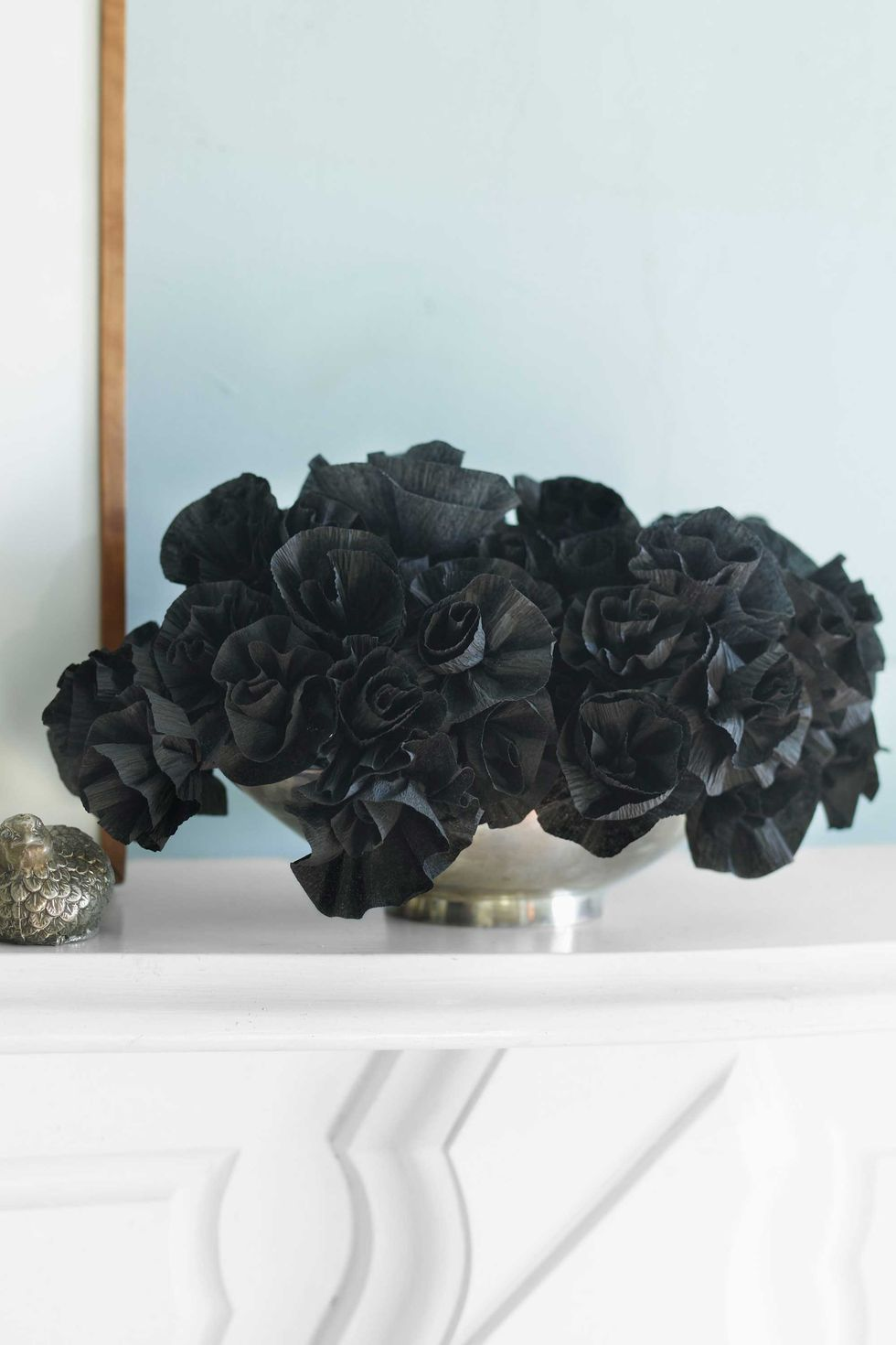 Black Paper Flowers: These 30 DIY Halloween Decorations That Are Wickedly Creative will save you money and allow your creativity to flourish