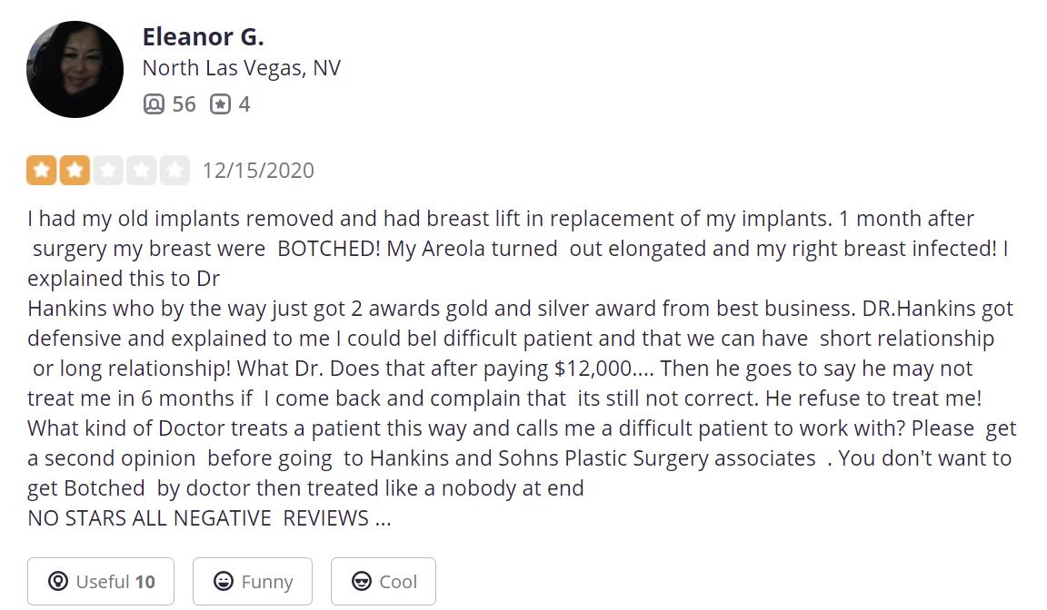 Hankins & Sohn Plastic Surgery Associates review