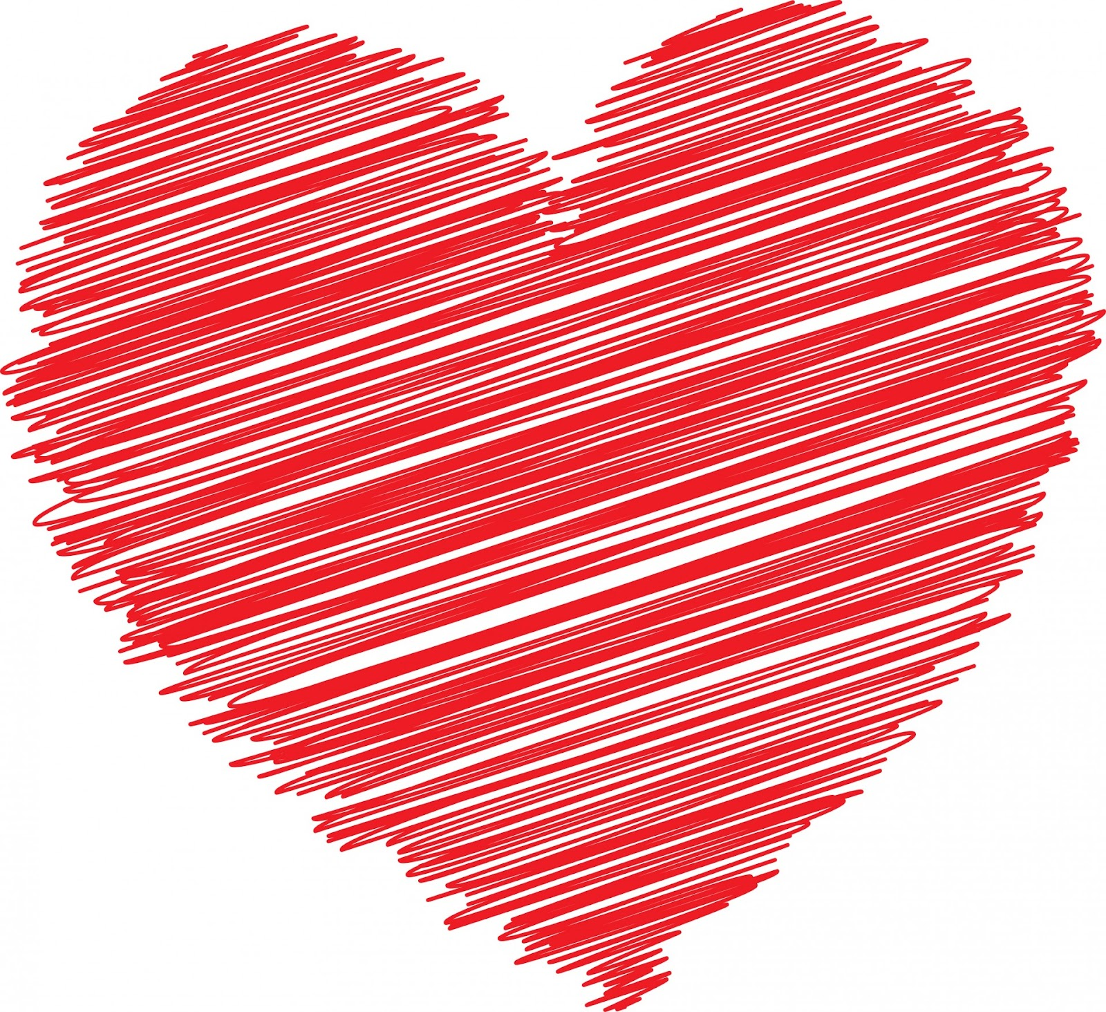 ... Red Scribble Heart ...