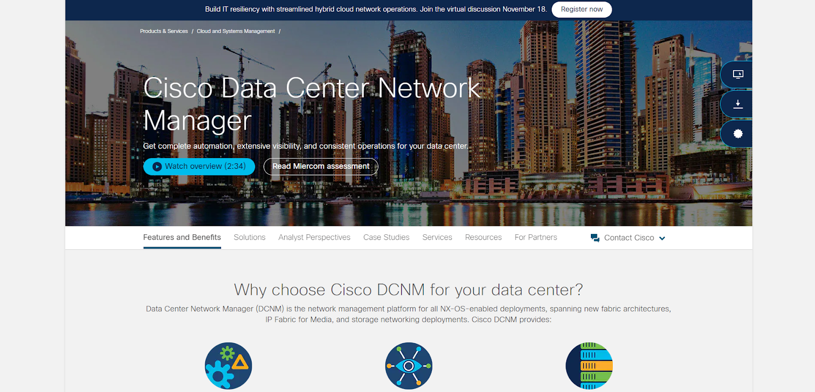 Cisco Data Center Network Manager Network Monitoring Tool