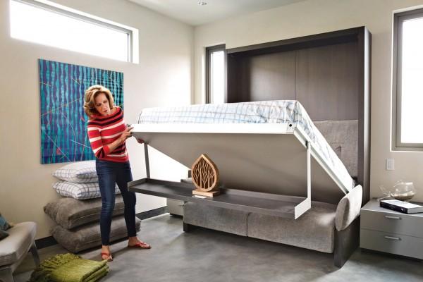 Sofa bed sebagai perabot multifungsi yang dapat menghemat tempat - source: home-designing.com
