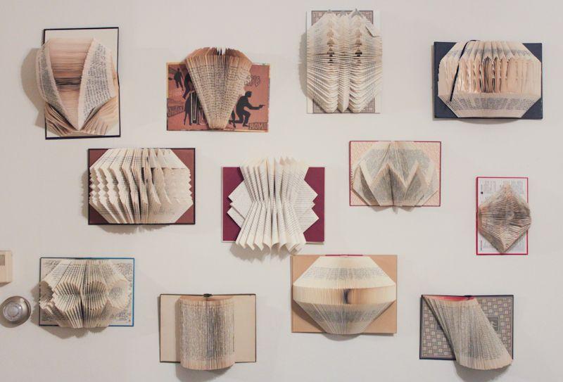 book wall DIY Retail Display Ideas