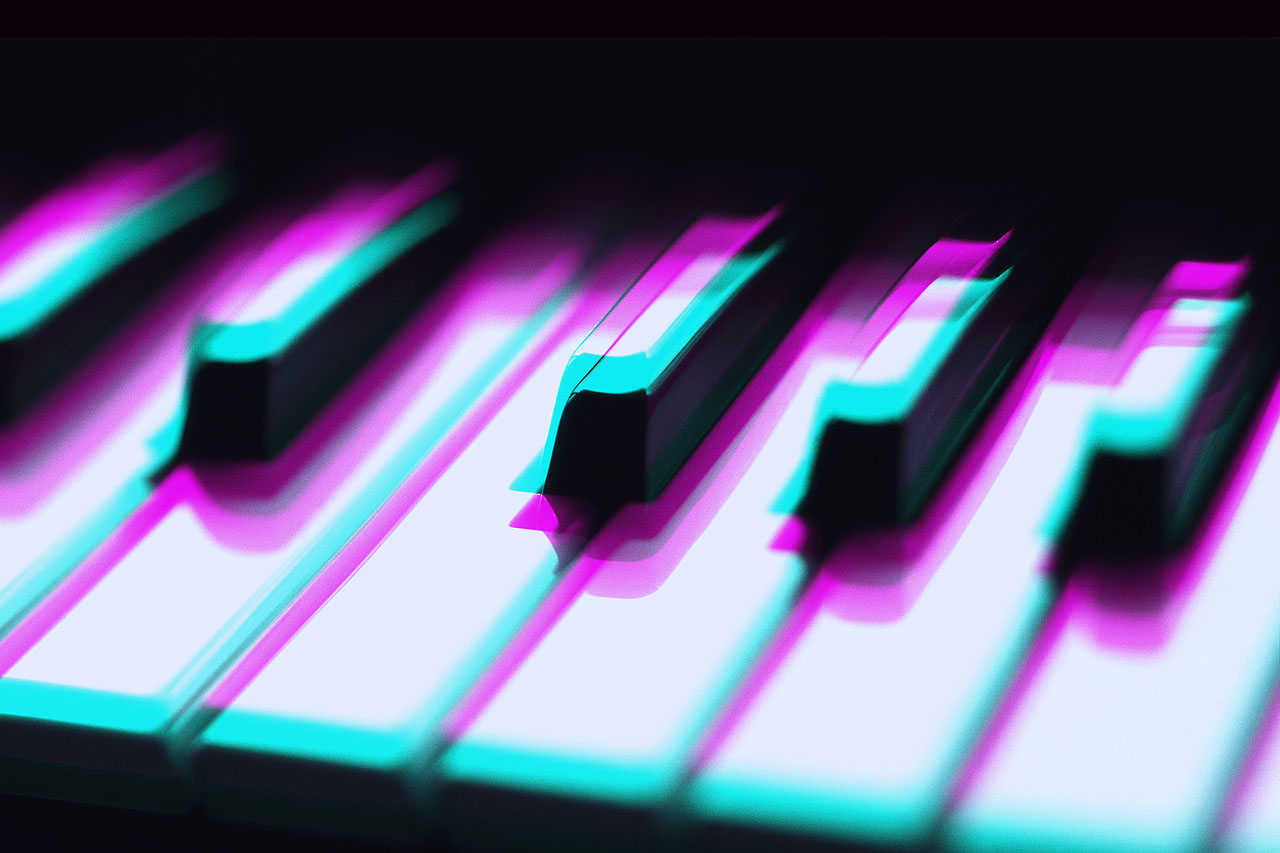 Diffracted piano keys