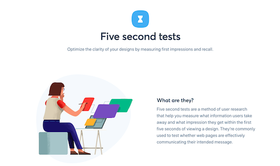 5 second test home page