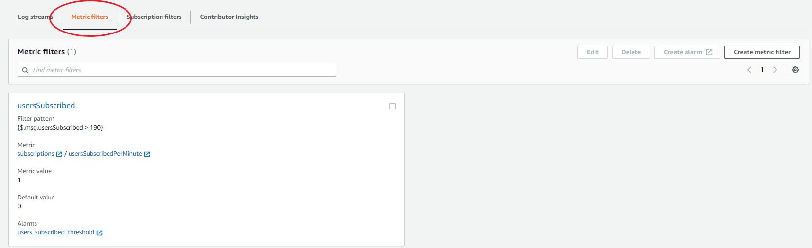 editing metric filters
