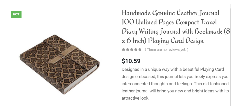 Handmade Genuine Leather Journal