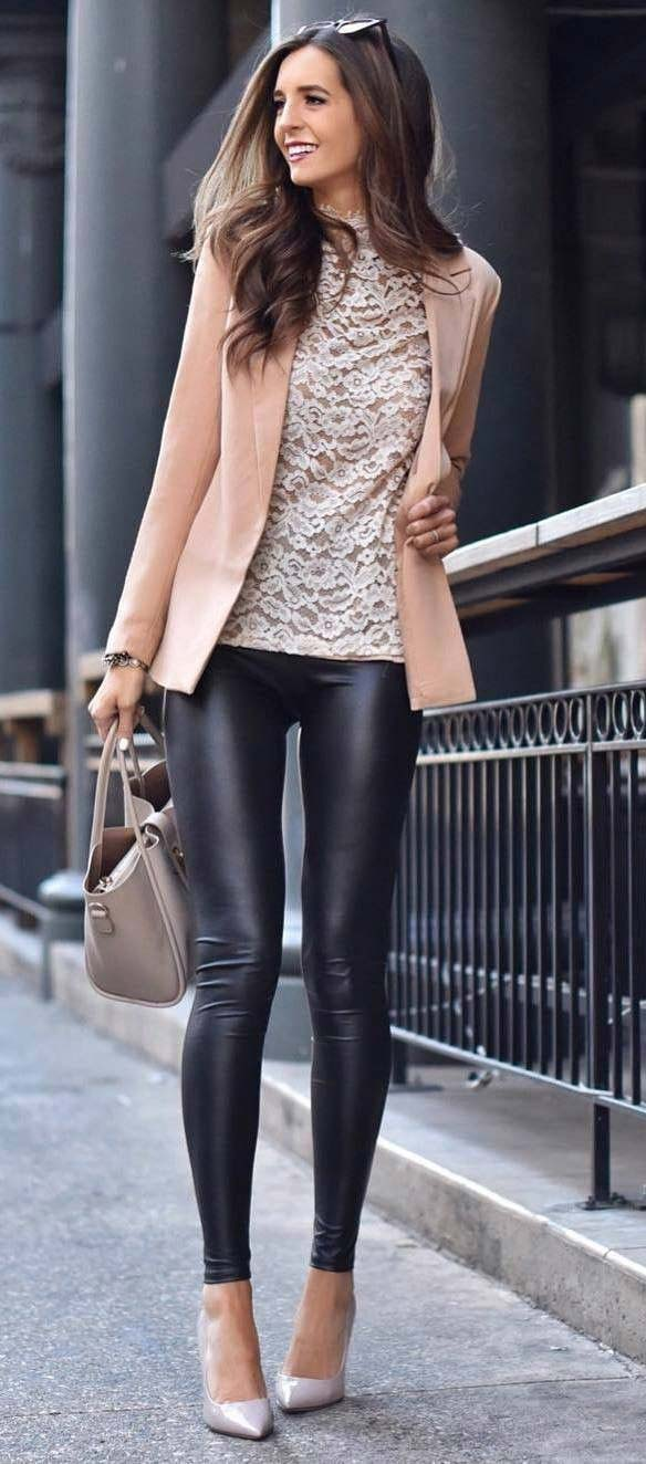 How to wear leggings on a hot date