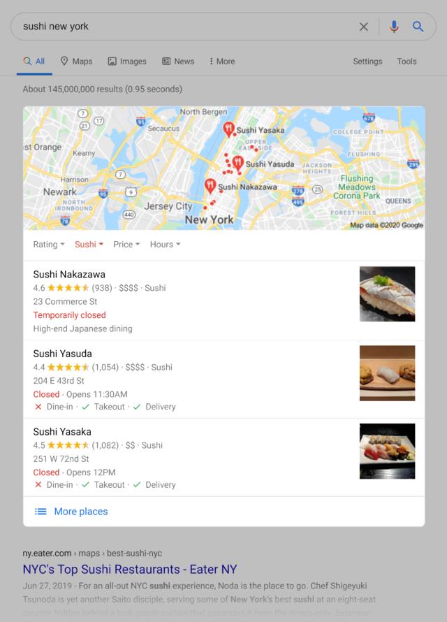результаты google карт скриншот