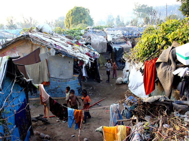 Rohingya refugee camp in Jammu.