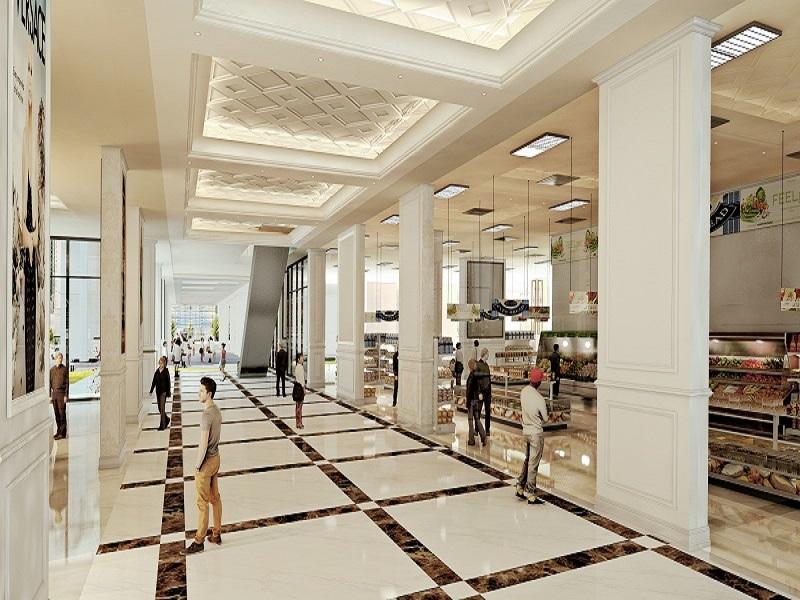Trung tâm mua sắm lớn trong dự án can ho Gelexia Riverside.jpg