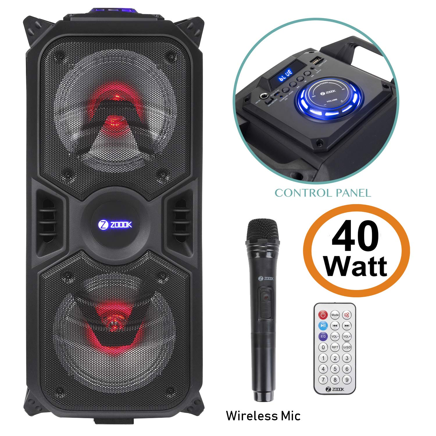 Zoook Rocker Thunder Plus 40W Party Speaker