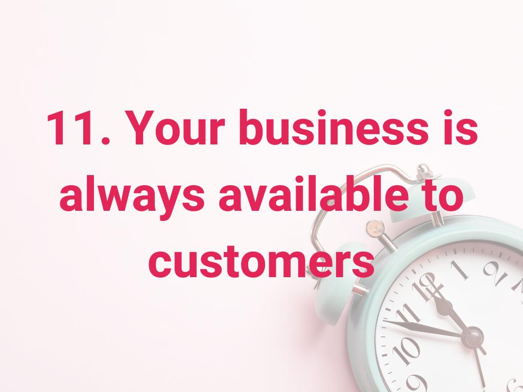 Je bedrijf is altijd beschikbaar voor klanten