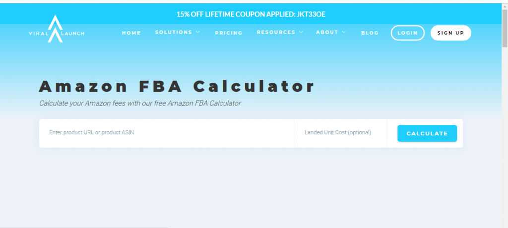 Viral Launch FBA Calculator