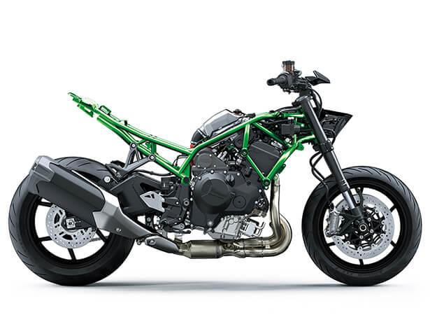 Kawasaki Z-H2 2020 สุดยอดรถจักรยานยนต์ไฮเปอร์ไบค์8