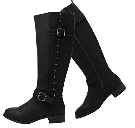 Luoika Women's Wide Width Knee High Boots