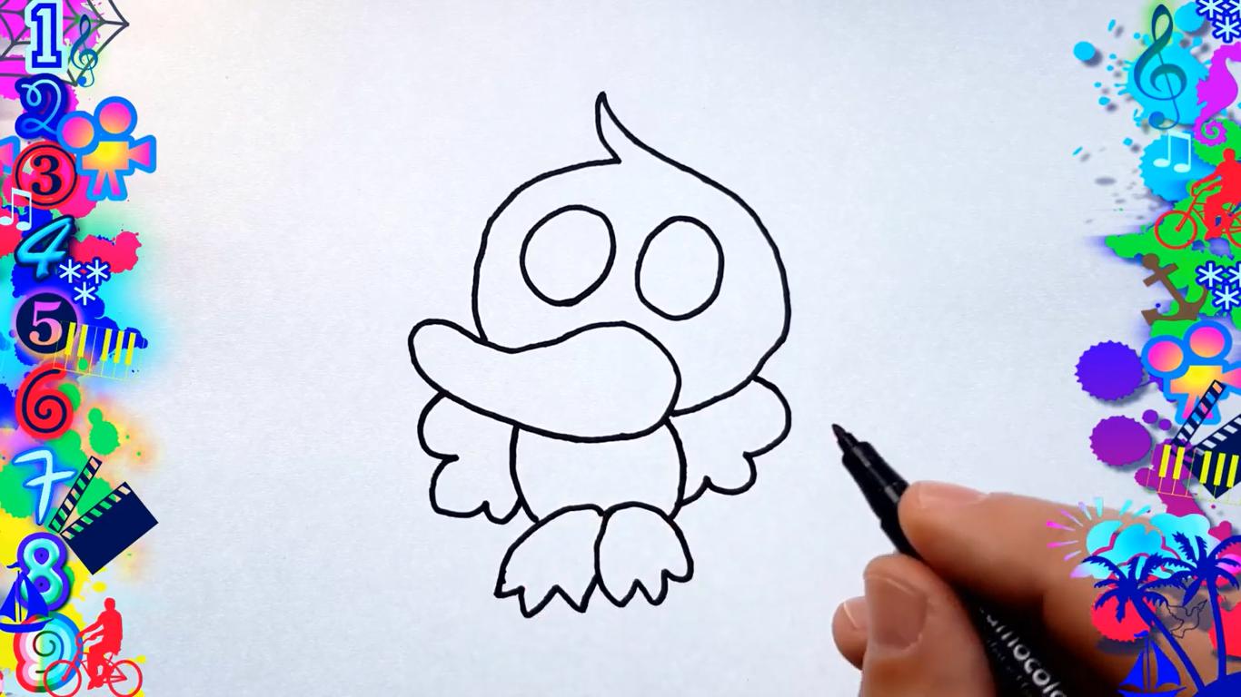 como dibujar un pato kawaii paso a paso facilmente