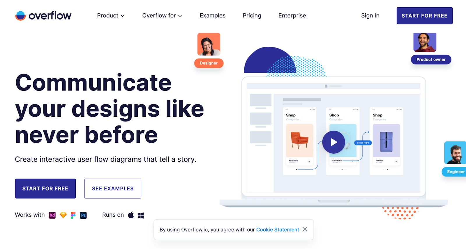 overflow best website design award winner 2018