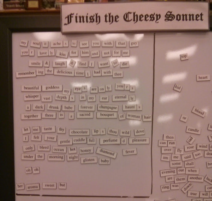 Cheesy Sonnet in progress.