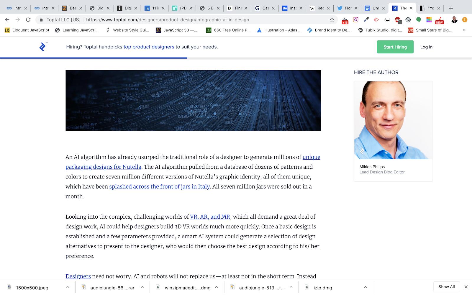 Miklos Philip's Toptal AI Design Article:  'The Present and Future of AI in Design' - 2018