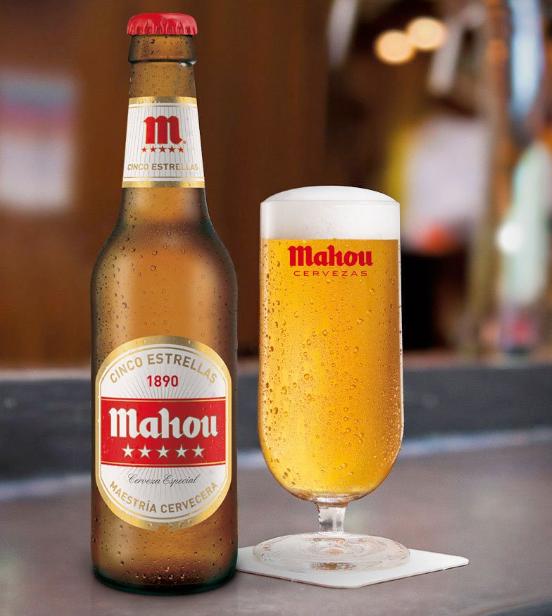 cerveza española mahou cinco estrellas