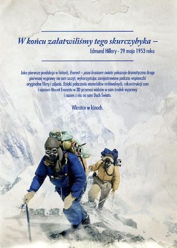 Tył ulotki filmu 'Everest - Poza Krańcem Świata'