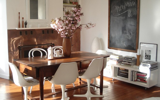 Desain interior vintage dengan sentuhan modern - source: fleamarketinsiders.com