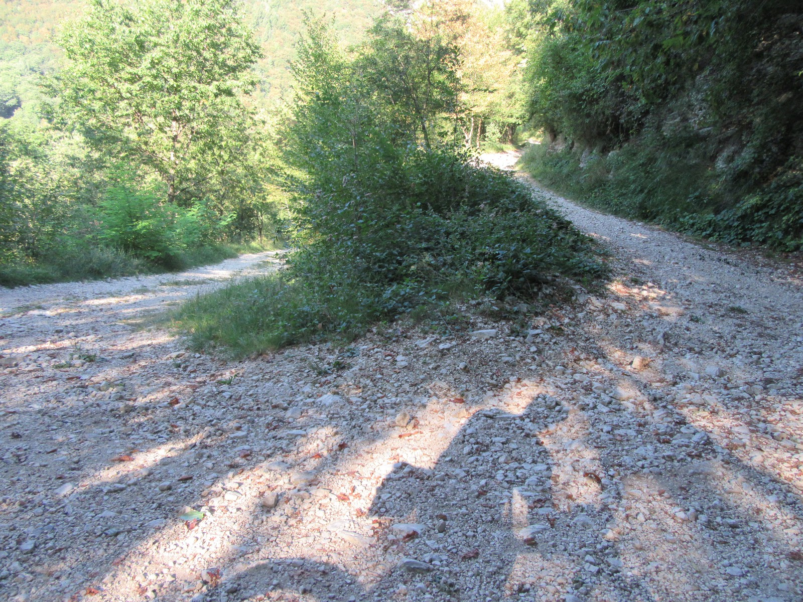 Climbing Monte Grappa from Crespano - gravel hairpin