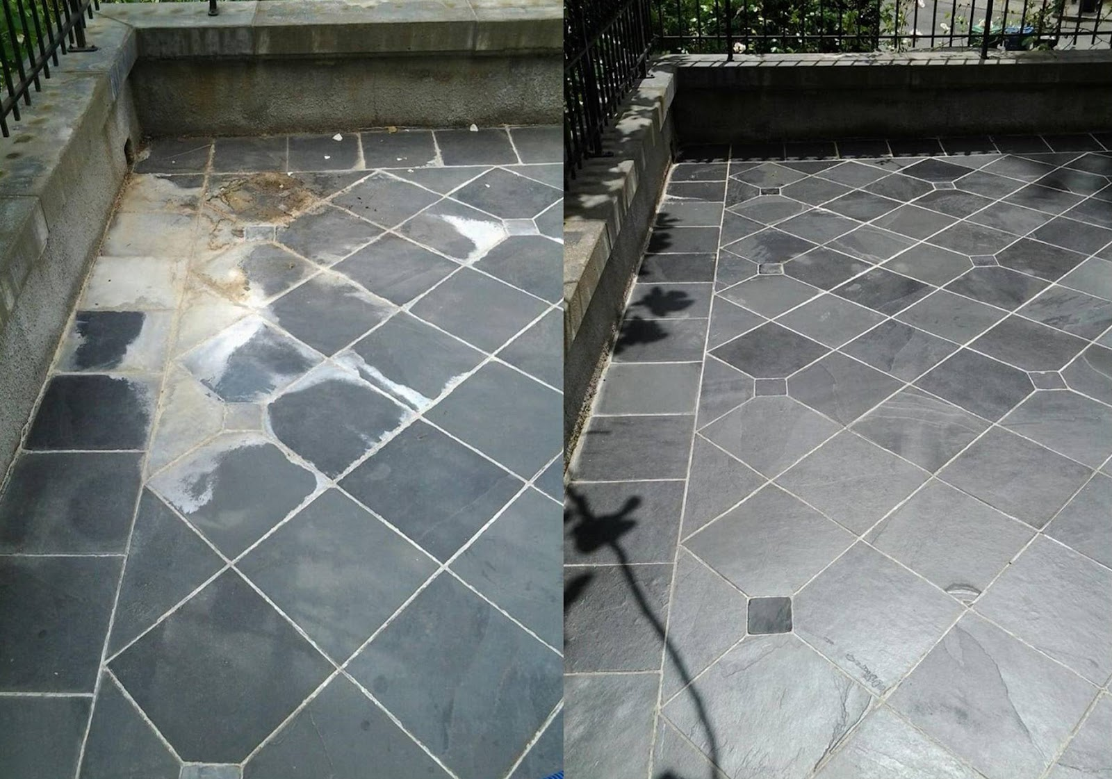 Before and after, Hammond Knoll, outdoor tile
