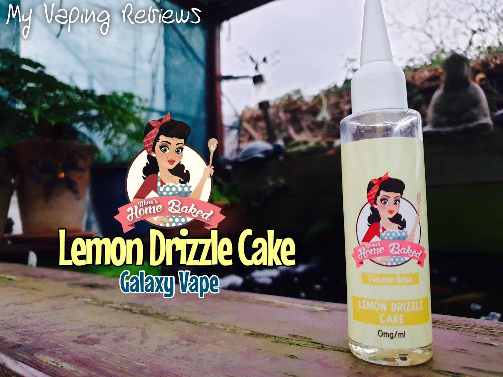 mums Home Baked Lemon Driizle cake Review | My Vaping Rebiews