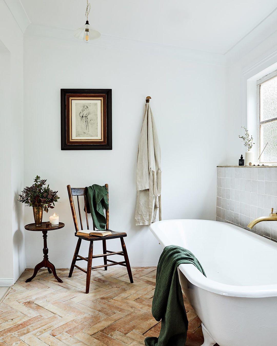 Estilos de decoración de interiores:   baño estilo rústico moderno