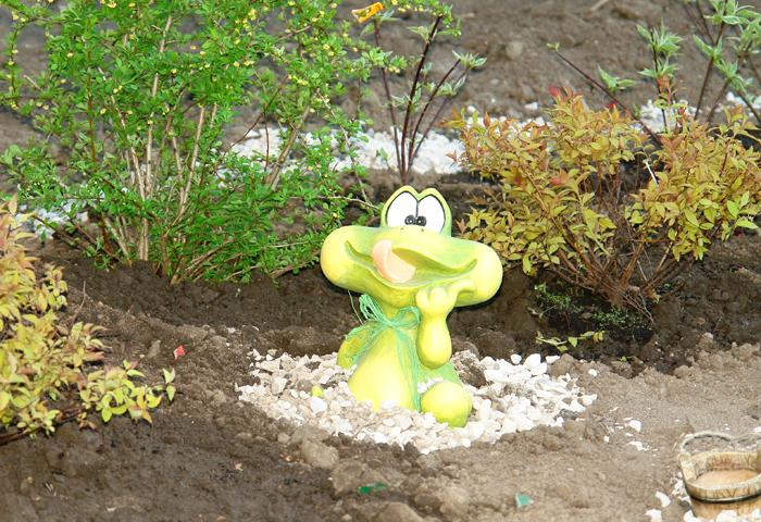 Садовая фигура - лягушка