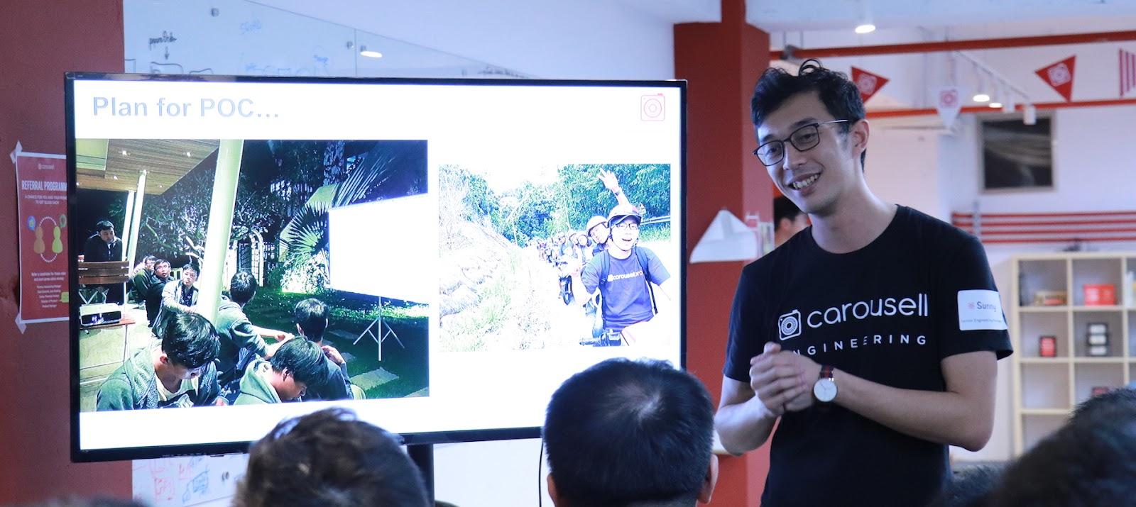 Carousell 旋轉拍賣的 Senior Engineering Manager Sunny 特別從新加坡飛來和大家分享在開發及設計 Smart Listing 遇到的挑戰