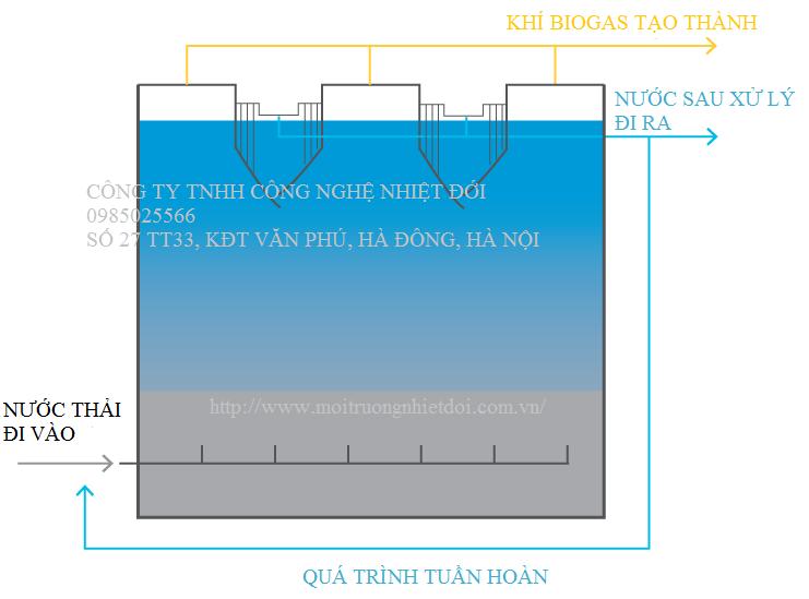 cấu tạo và nguyên lý của bể UASB