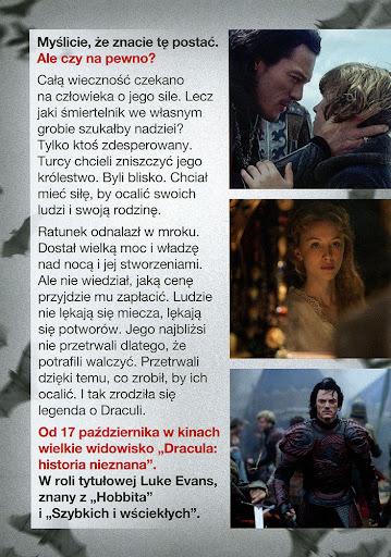 Tył ulotki filmu 'Dracula: Historia Nieznana'