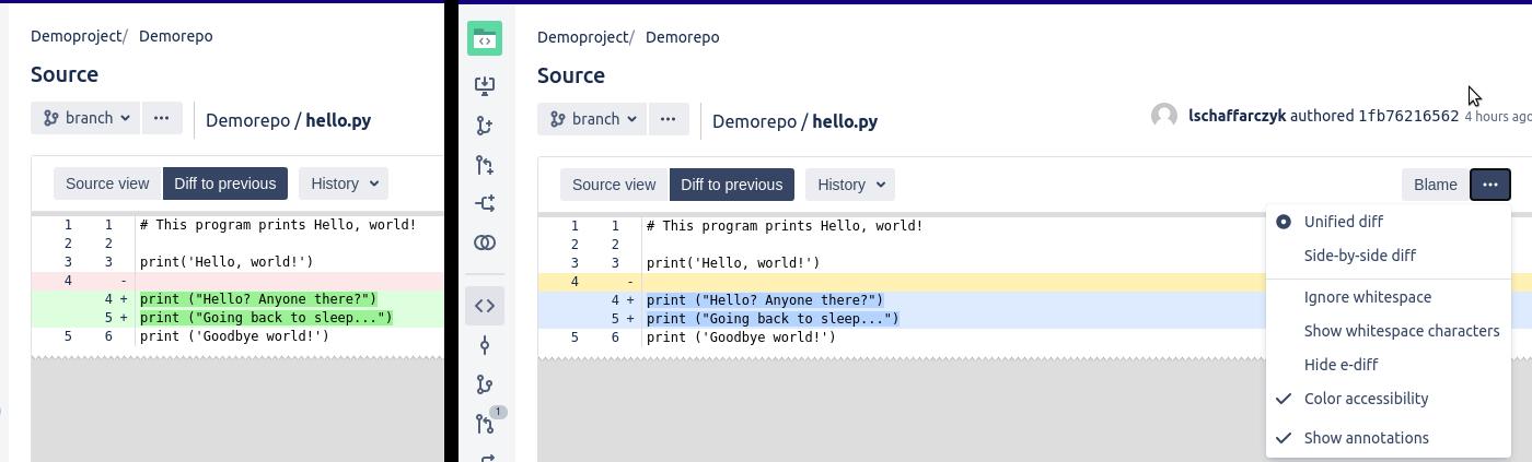 Screenshot from Bitbucket