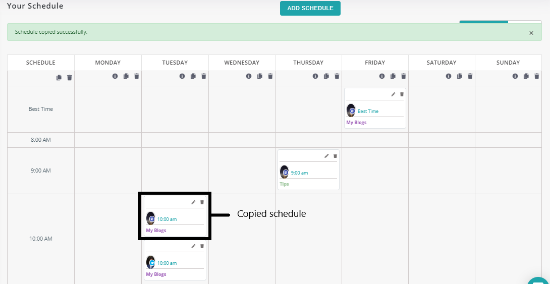 how to schedule updates-recurpost-social media scheduling tool