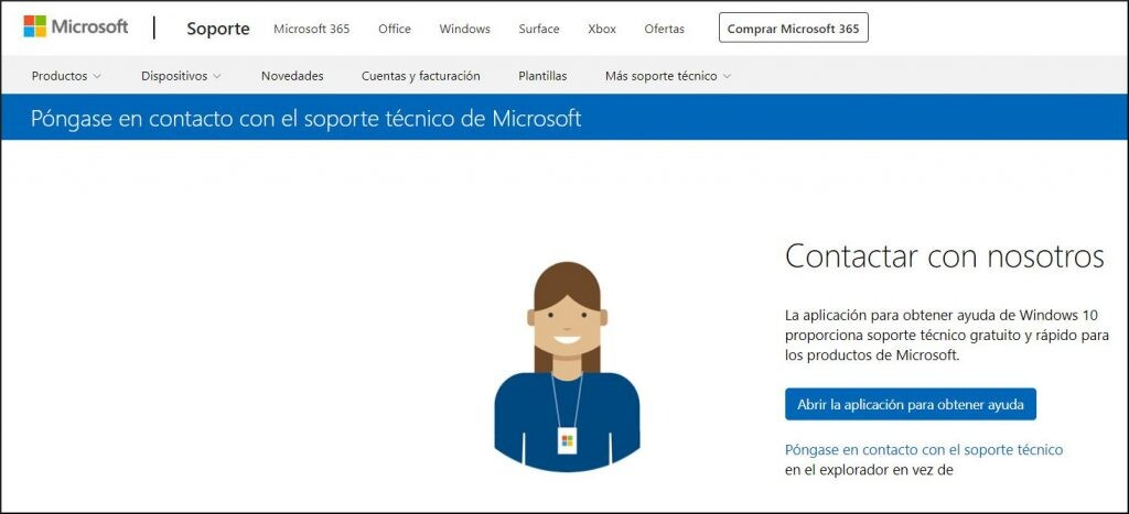 Página oficial de soporte de Microsoft.
