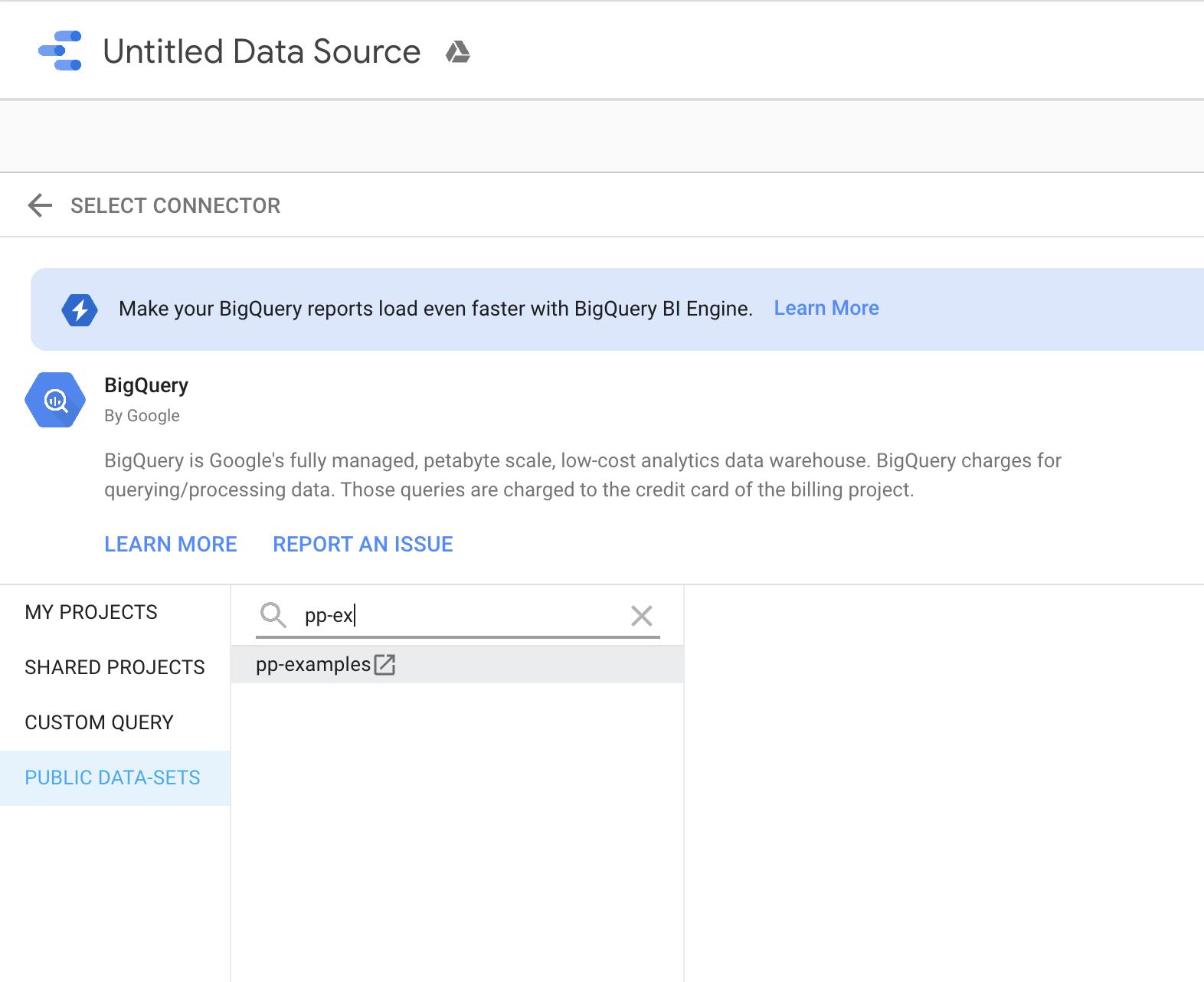 Billing Project zur Anbindung eines Datensatzes
