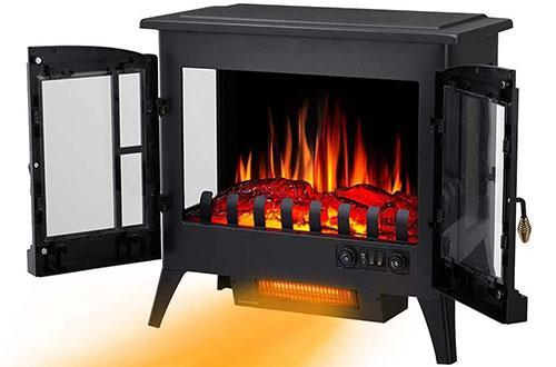 Best Electric Fireplace in 2020   Joy Pebble Compact Electric Fireplace Heater