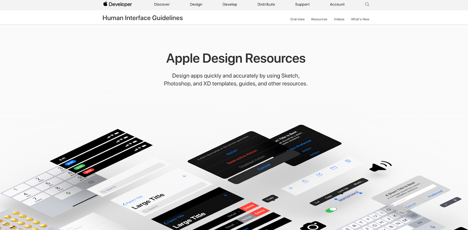 Apple Design Resources è una raccolta di best practices per l'UI di Siti e App