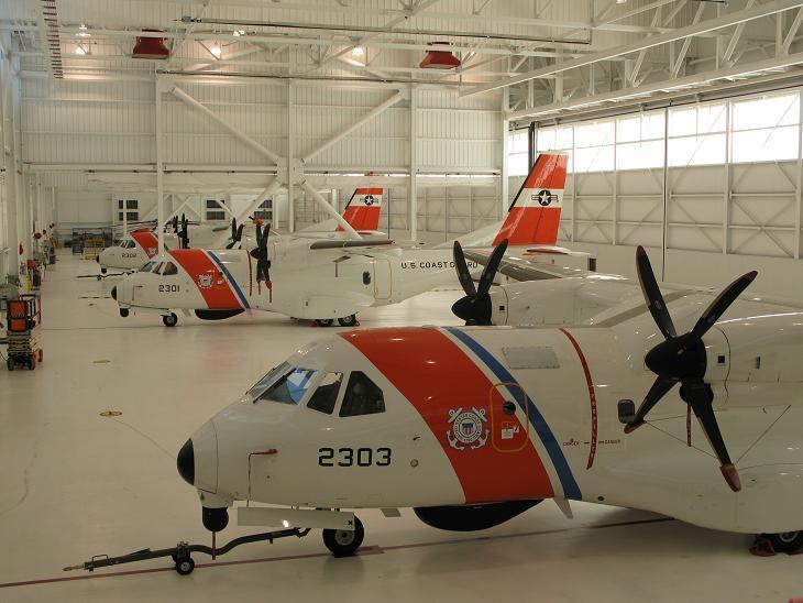 C:UsersCoeffDesktopArmy Base PicsAviation Training Center Coast Guard Base in Mobile, ALCasa in Hanger.JPG