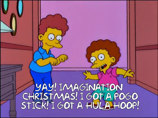 Rod and Todd Flanders celebrate imaginary Christmas. Many consumers in 2020 might have to celebrate if they don't complete online ordering earlier this year.