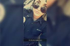 Image result for 'It was a stupid mistake': Cop's Snapchat photo with racial slur costs her 2 jobs