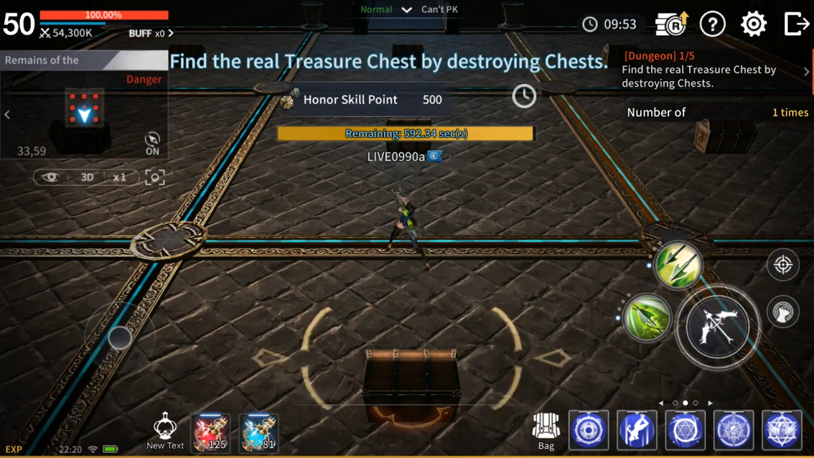 Attack the chests to find the real treasure chest