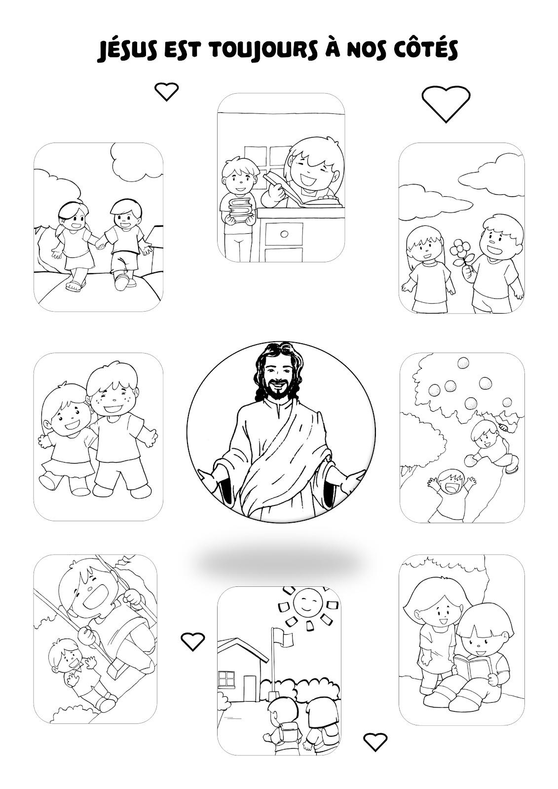 """Panneau """"Jésus est toujours à nos côtés"""""""