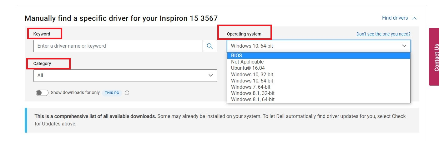 """If there are several files listed, go to the most recent version of the system BIOS and click """"View Details."""""""